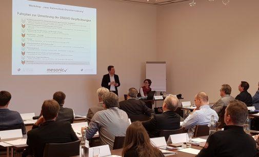Unternehmensberater und zertifizierter Datenschutzbeauftragter Thomas Ollinger hielt gemeinsam mit Rechtsanwältin Nina Ollinger ein DSG-VO-Seminar für den Software-Hersteller mesonic