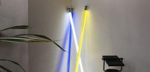 Moderne Dekorationsideen mit farbigen LED Leuchtstäben