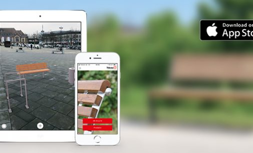 Stadtmöbel mobil planen mit der Thieme AR App