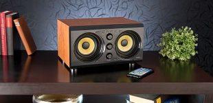 auvisio 2.0-Soundsystem MSX-400 im Holzgehäuse, Bluetooth
