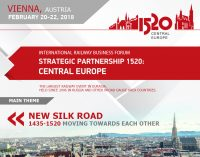 "Internationales Eisenbahnforum ""1520 Strategic Partnership"" vom 20.-22. Februar in Wien"