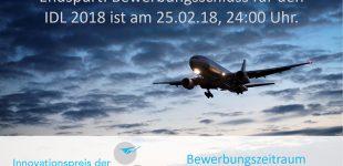 Endspurt: noch 4 Tage bis Bewerbungsschluss für IDL 2018