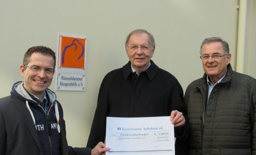 Rüsselsheimer Volksbank unterstützt Hospizhilfe
