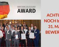SmartHome Deutschland Award 2018 – Noch bis 31. März bewerben!
