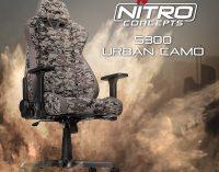 JETZT bei Caseking – Der Nitro Concepts S300 Gaming-Stuhl mit digitaler Urban Camouflage.