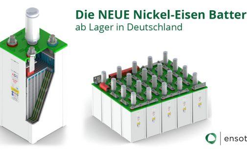 Verbesserte Nickel-Eisen Batterie für Stromspeicher