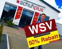 WSV 2018 bei schuhplus – Schuhe in Übergrößen: 50% Rabatt auf Alles