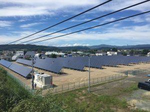 Kyoceras bodengestützte Solaranlage