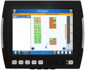 Staplerleitsystem mit Navigation und scan-freiem Identifizieren für 100% Transparenz