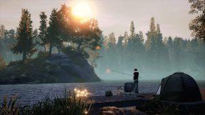 Idyllisch liegt der Waldsee des Angel-Simulationsspiels von Dovetail Games.