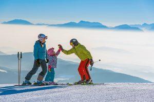 Skispaß für Groß und Klein gibt es auf der Gerlitzen Alpe.