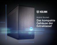 Jetzt bei Caseking – Das hochwertige Mini-ITX-Gehäuse Rocket von Kolink mit perfekter Raumnutzung & durchdachtem Kühlkonzept.