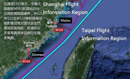 Peking richtet vier Flugrouten über Taiwan ein – und gefährdet damit Frieden und Stabilität in der Region