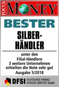 Auszeichnung Bester Silberhändler für die GfM mbH in Gifhorn