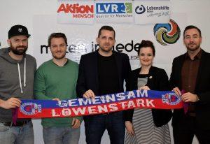 v. links nach rechts: Thomas Arrenbrecht (kreativrudel), Dirk Buchholtz (Bonner Sport-Club 01/04 e.V