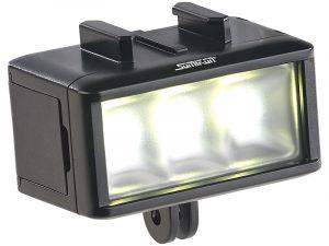 Unterwasser-LED-Licht für Action-Cams FVL-360.uw, 360 lm, 3 W, 900 mAh-Akku