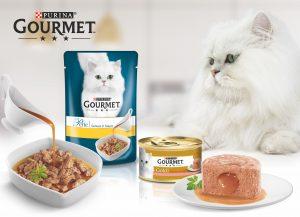 Mit GOURMET Perle Genuss in Sauce und GOURMET Gold Schmelzender Kern werden Katzenwünsche wahr!