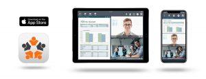 Die erste professionelle und sichere Videokonferenz-App die kostenlos im App Store verfügbar ist