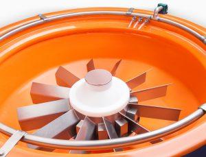 Der Arbeitsbehälter des CM Rundvibrators
