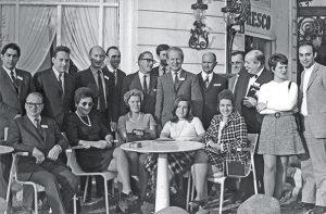 Teilnehmer bei der inlingua-Vorstellung in Nizza ein Jahr nach Gründung (Bild: inlingua)