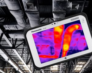 Komfortable Kombination für produktiveres Arbeiten: TOUGHPAD FZ-M1 mit FLIR Lepton Wärmebildkamera