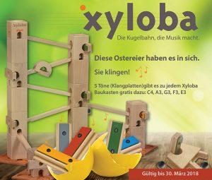 Spielend Musik lernen, mit der Kugelbahn Xyloba.