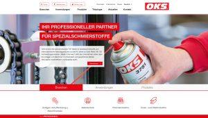 OKS Produkte für die verschiedenen Branchen und Anwendungen lassen sich schnell ermitteln