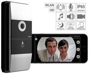 Somikon Kabellose Smart Video Türklingel VTK-300 mit WLAN und App-Kontrolle, www.pearl.de