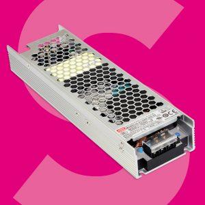 Bei Schukat: LED-Netzteil der UHP-Serie von MEAN WELL in schmaler U-Bracket-Bauform.