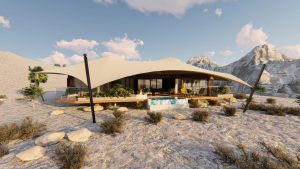 Illustration von Luxus-Camp in Ras Al Khaimah