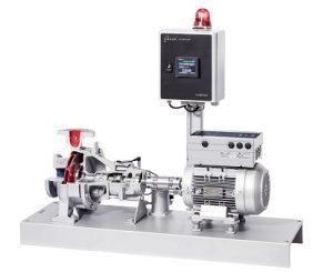Das IN-1000-Mastermodul zeigt Meldungen und Sensorwerte aller Pumpen an und leitet diese weiter.