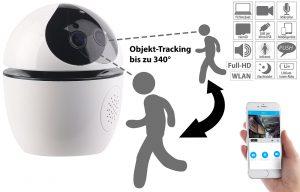 7links Selbstständig nachführende IP Auto Object Tracking Kamera IPC-650.track (340°), www.pearl.de