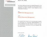 "MMM-Artist-Management –  ""Bestes Newcomer Management 2018"""