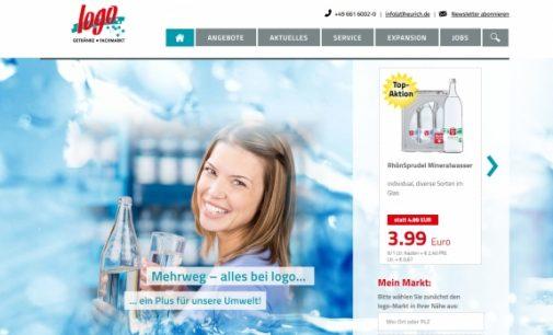"""Online-Projekte: Erfrischend neu, die Website der """"logo Getränkemärkte"""""""