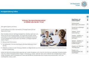Ab sofort können in Bayern online Anzeigen erstattet werden.