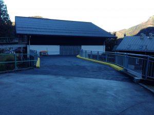 Dauerhaft abgedichtet: die Zufahrtsrampe des St. Gilgener Parkhauses nach der Sanierung mit Triflex