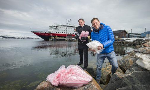 Hurtigruten sagt Plastik den Kampf an