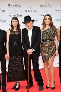 Edward Lachman umgeben von den Schauspielerinen Jamie Bochert (links) und Elodie Bouchez.