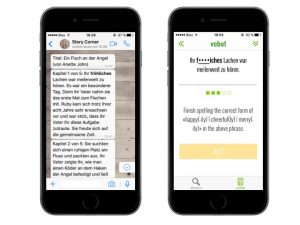 Nachschlagen und Üben mit der Vokabeltrainer-App vobot German