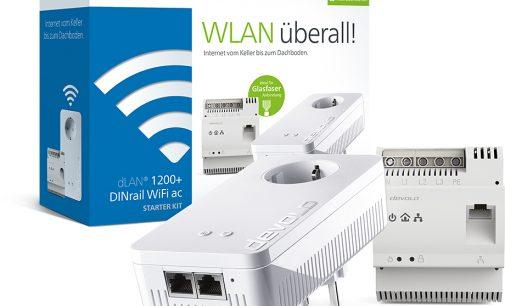 WLAN überall: dLAN 1200+ DINrail WiFi ac Starter Kit bringt Gigabit-Speed ins ganze Haus