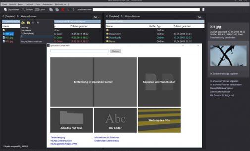 """Operation Center x64 Professional"": Bekannter Dateimanager ab sofort auch in 64 Bit"