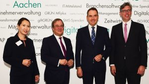 Mailin Winter, Armin Laschet, Dr. Oliver Grün, Marcel Philipp (v.l.)