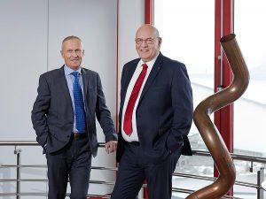Die beiden transfluid-Gründer und Geschäftsführer Ludger Bludau (l.) und Gerd Nöker.(r.).
