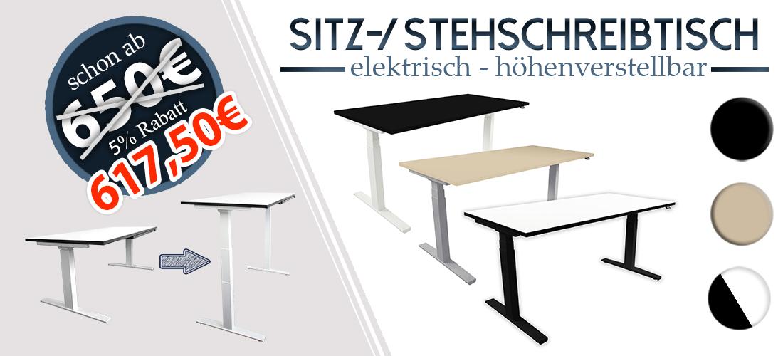 """Einführungs-Angebot: Steh-Sitz-Schreibtisch """"Worker"""" bis zum 31.07.2108 mit 5% Rabatt erhältlich"""