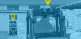 Bestes Produkt 2018 für Materialfluss: Staplerleitsystem vorne