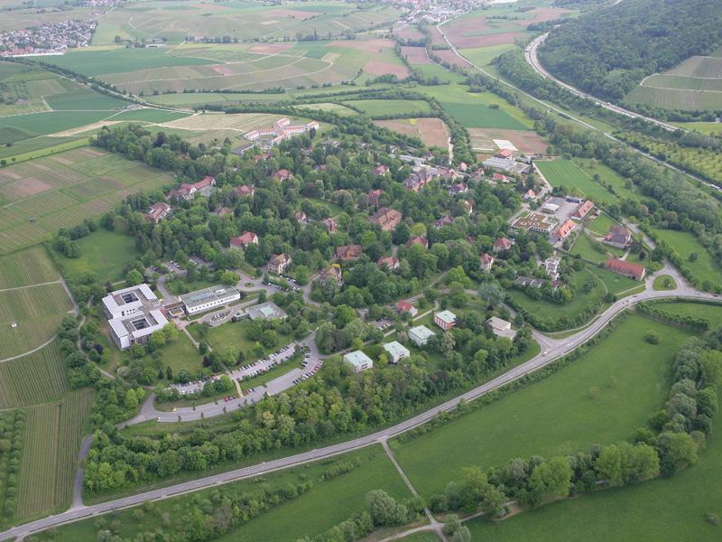 Das Klinikgelände des Klinikums am Weissenhof