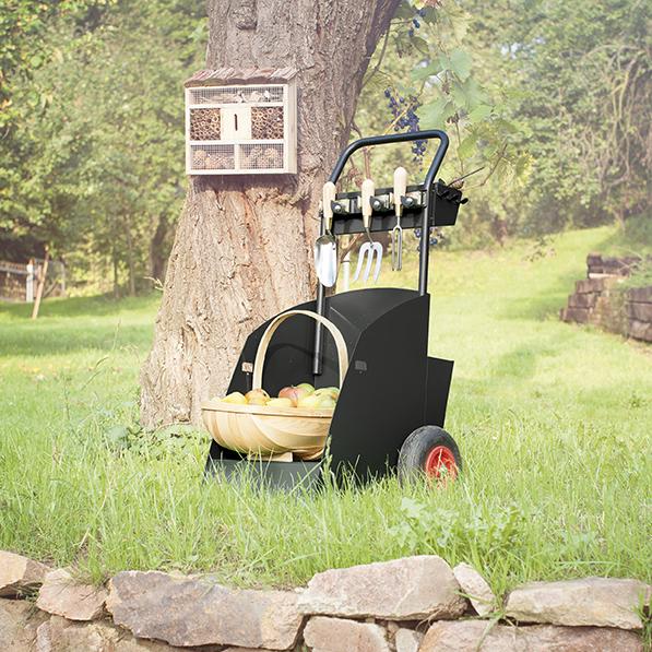 Der Gartencaddy ist ein nützlicher Begleiter während der Gartensaison.