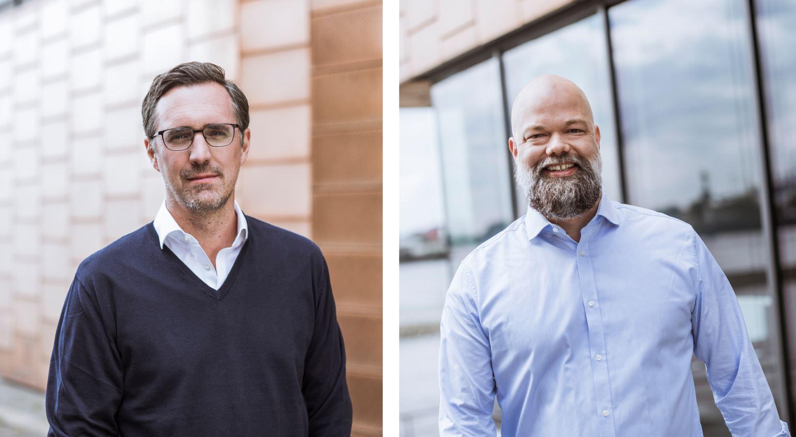 Marc Berg, CEO Intelligent Apps GmbH (links), Eckart Diepenhorst, CEO mytaxi