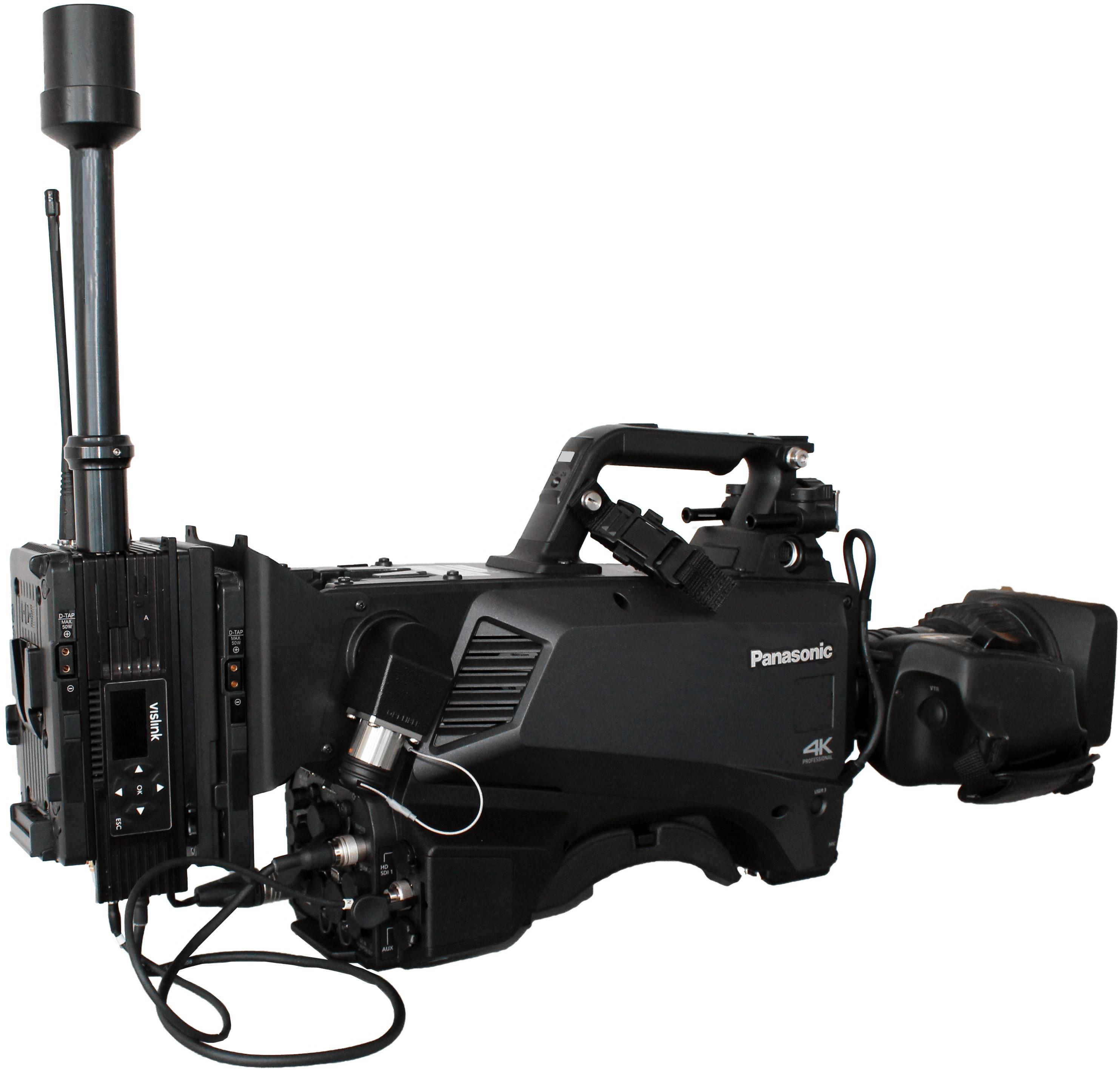 Panasonic Kamera AK-UC3000 mit Vislink HCAM Transmitter