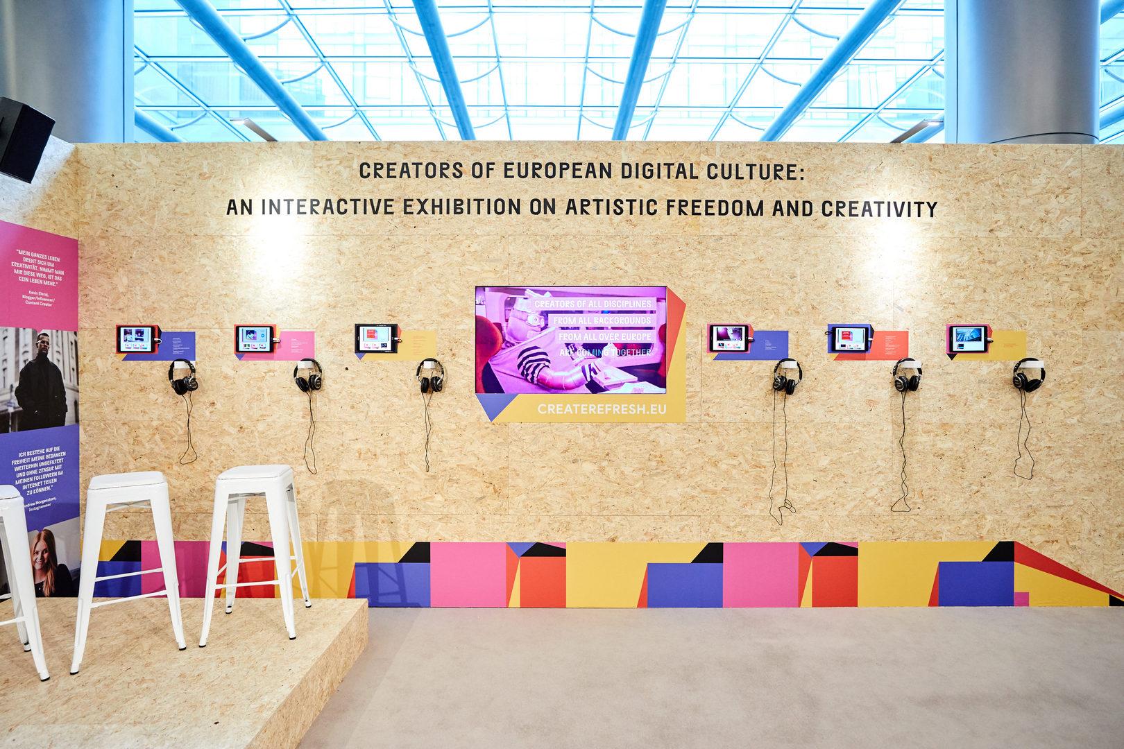 Create.Refresh exhibition in the European Parliament